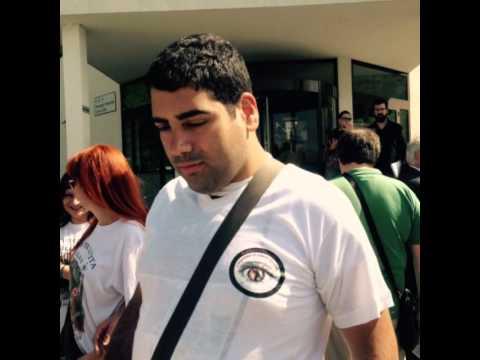 Sit-in di protesta a Belluno in favore del Cane Guida