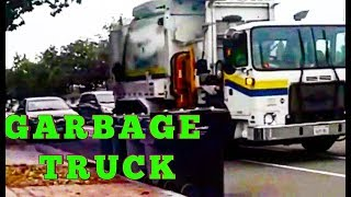 Машинка мусоровоз   GARBAGE TRUCK in ACTION. RECYCLING GARBAGE TRUCK