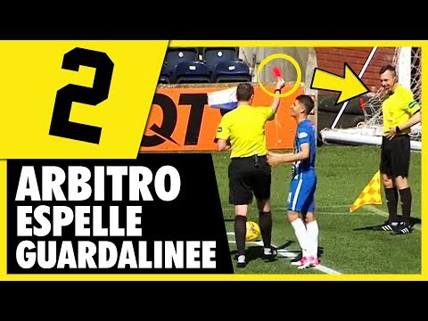 STRANEZZE NEL CALCIO 2 - ARBITRO ESPELLE GUARDALINEE - Daniele Brogna