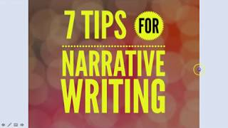 7 Top Tips For Narrative Writing: Top Set Writing Skills