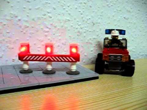 Feuerwehr Absperrung mit Blink-LEDs - Blinklicht