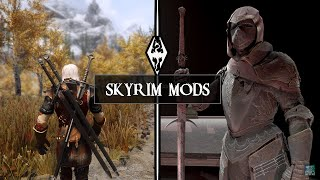 WITCHER COMBAT In Skyrim & Insanely DETAILED ARMORS (Skyrim Mods)