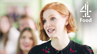 Jessica Chastain Talks About Her Vegan Lifestyle   Jamie And Jimmys Friday Night Feast