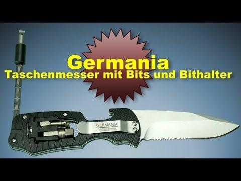 Germania Handwerkermesser mit Magnet Bithalter und 4 Bits