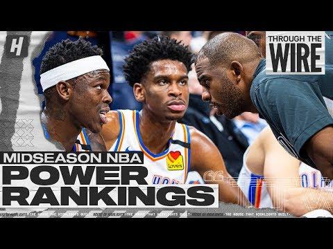 Midseason NBA Power Rankings   Through The Wire Podcast