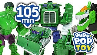 October 2017 TOP 10 Videos 105min Go! Avengers, Power Ranger, Poli and Transformers #DuDuPopTOY
