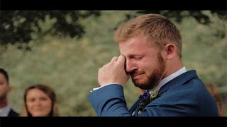 Groom's Reaction to Surprise Letter over Loudspeaker Emotional (Wedding Video)