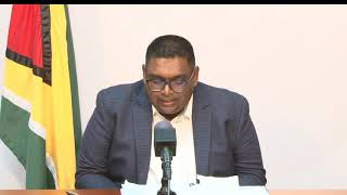Update by President-elect Dr Irfaan Ali June 6th 2020