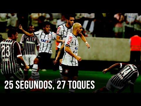 25 segundos, 27 toques | Gol do Corinthians