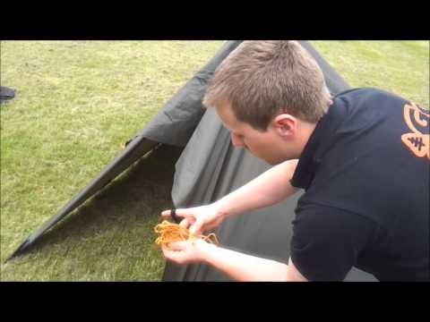Setting up a 3×3 DD tarp like a Tent