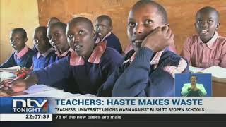Teachers caution government against rushing to reopen schools