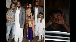 In Graphics: Salman Khan, Aamir Khan and many celebs attends Sanjay dutt's diwali party