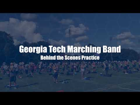 Behind the Scenes with the Georgia Tech Band Rehearsal: Covid-19 Edition