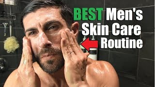 The BEST Mens Skin Care Routine For Clear Skin (Morning & Night Routine) | How To Have GREAT Skin!