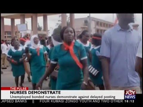 Nurses Demonstrate - The Pulse on JoyNews (5-9-18)
