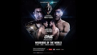 ONE: Warriors of the World LIVE Sat., Dec. 9 at 8:30 a.m. ET on FN Canada