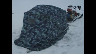Санки палатка своими руками для зимней рыбалки