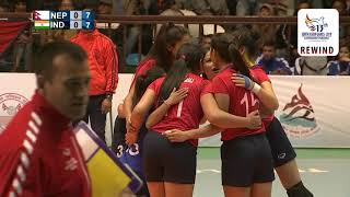 SAG WOMEN VOLLEYBALL FINAL ll NEPAL VS INDIA ll FULL VERSION ll