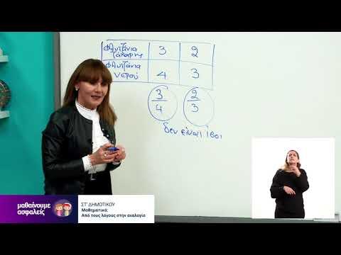 Μαθηματικά | Από τους λόγους στην αναλογία | ΣΤ' Δημοτικού Επ. 182