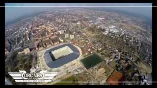 preview picture of video '2015-03-21 Stadion piłkarski GKS Tychy w budowie - Widok na miasto do 400m. n.p.m. - UltraHD 4K'