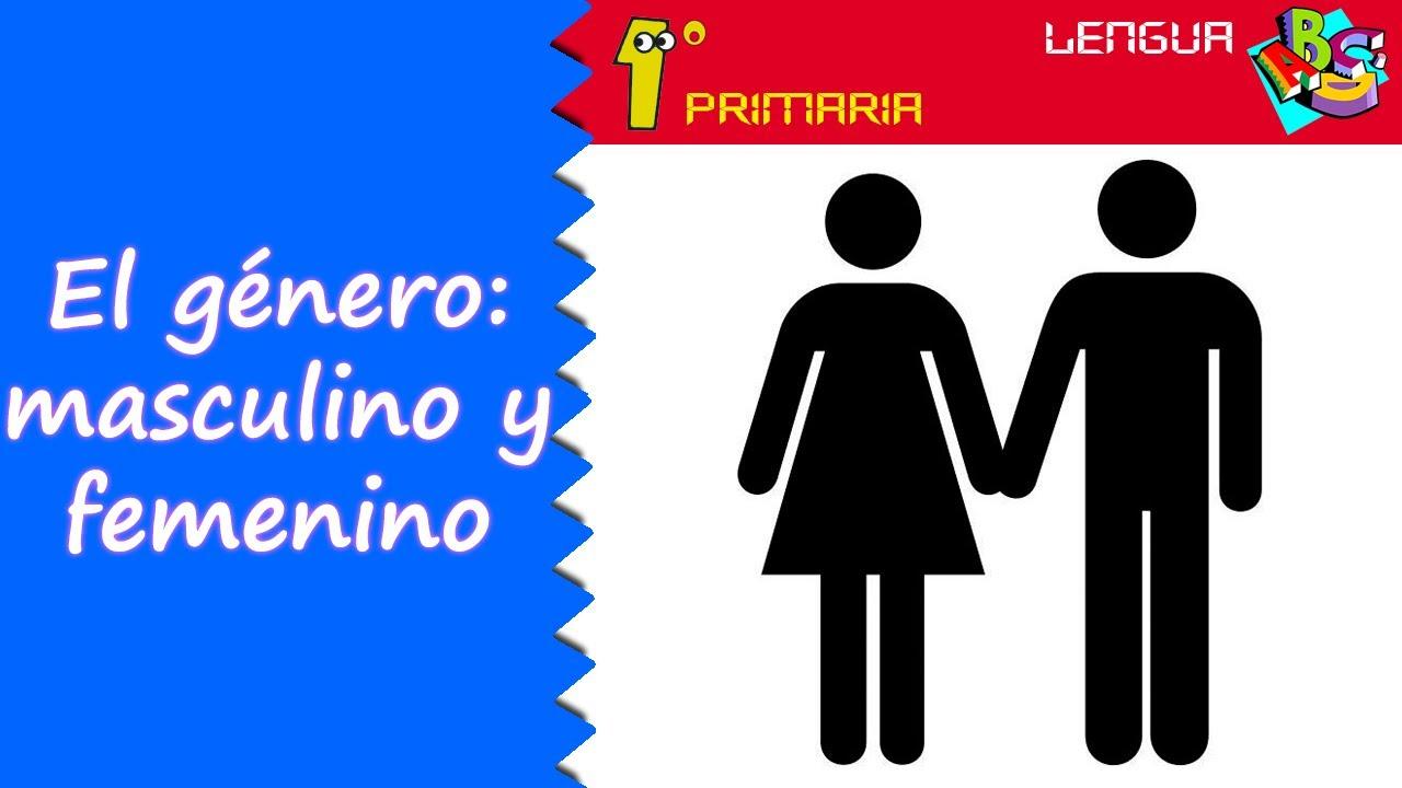 Lengua Castellana. 1º Primaria. Tema 7: El género, másculino y femenino