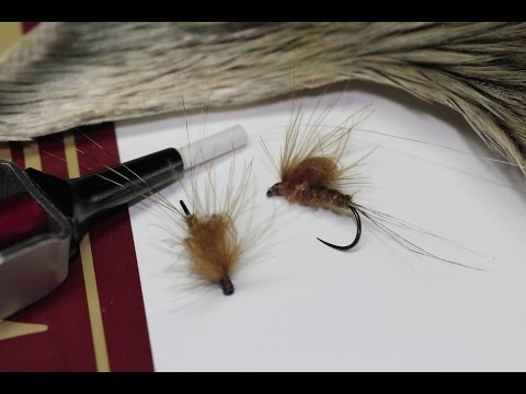 Olive brown cdc emerger (dry fly)