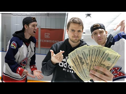 FIRST TO HIT THE HOCKEY TRICKSHOT WINS $1,000