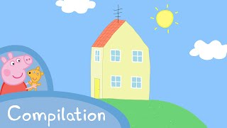 Peppa Pig Episodes - Peppa's House compilation  Peppa Pig Official