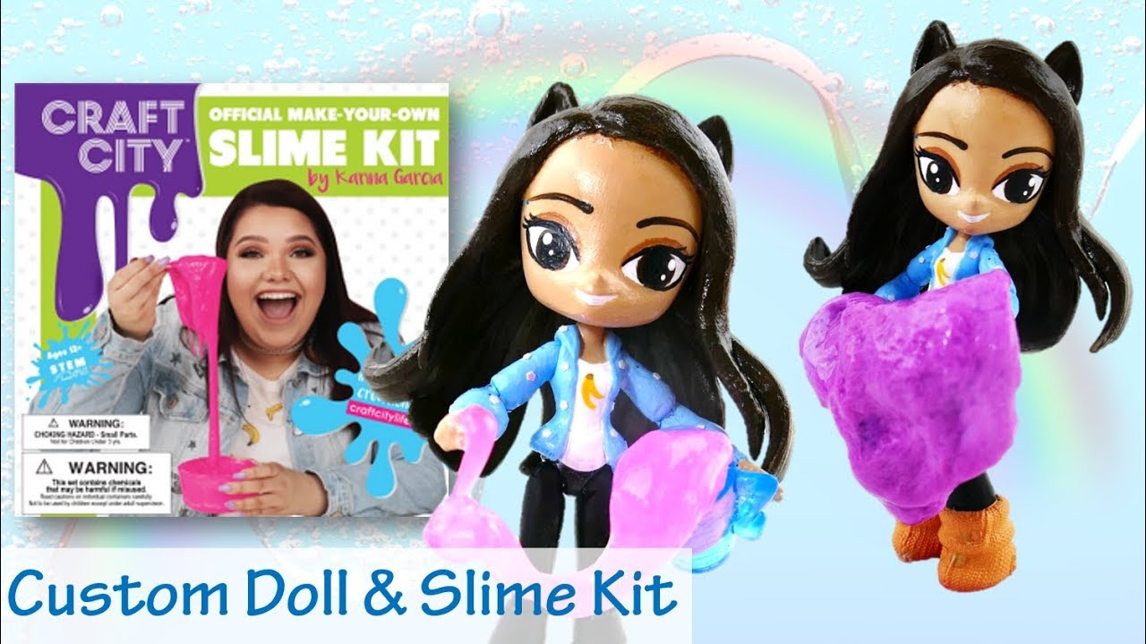 Craft City Karina Garcia Slime Kit Review and MLP Doll Pony Custom