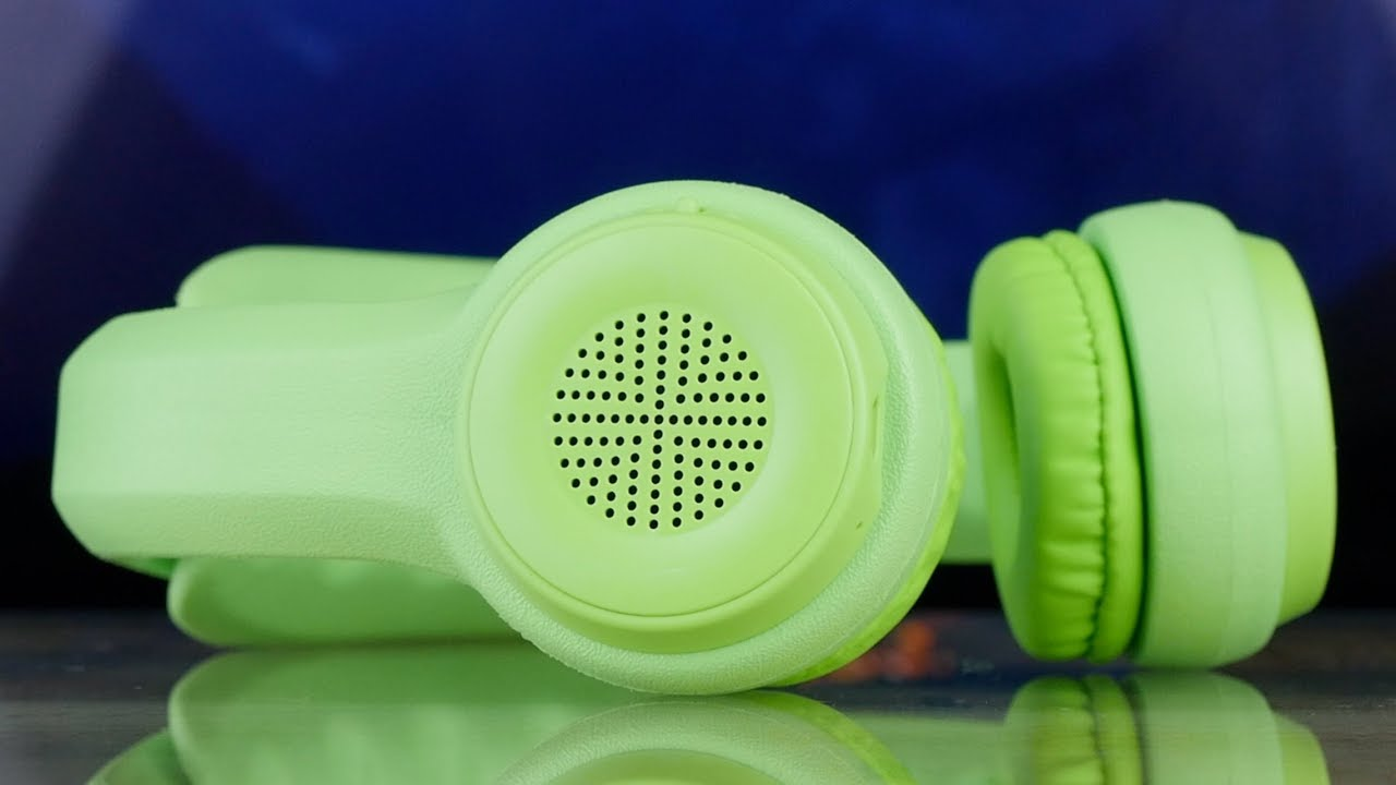 Детские наушники Elesound Kids headphone with Bluetooth (ES-KBT100) Green video preview
