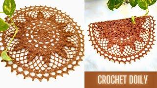 How To Crochet A Doily | Very East Crochet Doily Pattern With Popcorn Stitch | Crosia Thalposh | Mat