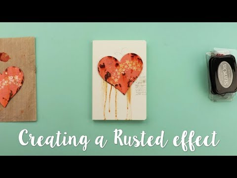 How to create a rust effect using Bubbalux with Pete Hughes - Sizzix