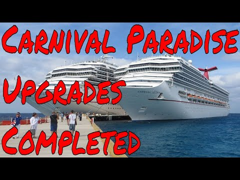 Carnival Paradise Major Upgrades Completed Plus Cruise Industry to Grow by 48% by 2027