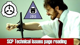 SCP Foundation Technical Support Issues Page Reading! Hilarity Ensues! Joke Tale