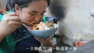 苗大姐做酸辣鱼,大碗米饭泡鱼汤,扒扒一碗饭就光了