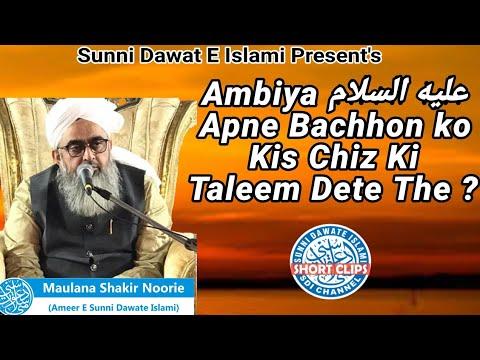 Ambiya Apne Bachhon Ko Kis Chiz Ki Taleem Dete The?   Maulana Shakir Noorie