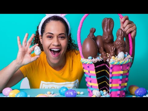 Easter Basket made of CAKE!   Chocolate Cake, Buttercream Filling, Fondant   How To Cake It