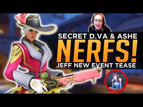 Overwatch: Secret Ashe & D.Va NERFS! - Jeff Teases NEW Event Changes!