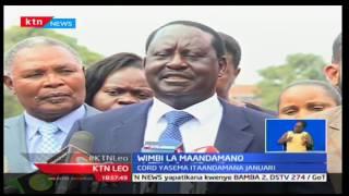 KTN Leo: Muungano wa CORD watangaza maandamano mwaka ujao kupinga serikali ya Jubilee