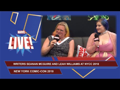 Writers Seanan McGuire and Leah Williams stop by Marvel LIVE at NYCC 2018!