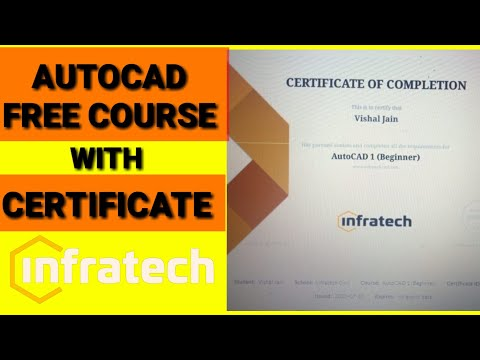 AutoCAD Online Course With Free Certificate | AutoCAD ... - YouTube