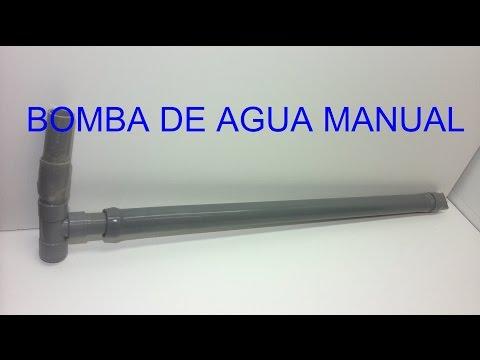 BOMBA AGUA CASERA, bomba de agua manual con tubos de pvc.