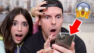 Dad REACTS to my CAMERA ROLL!! *Big Mistake*