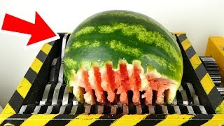 Ultimate Shredding Compilation ! - 1 hour of shredding  - fruits , batteries  and toys