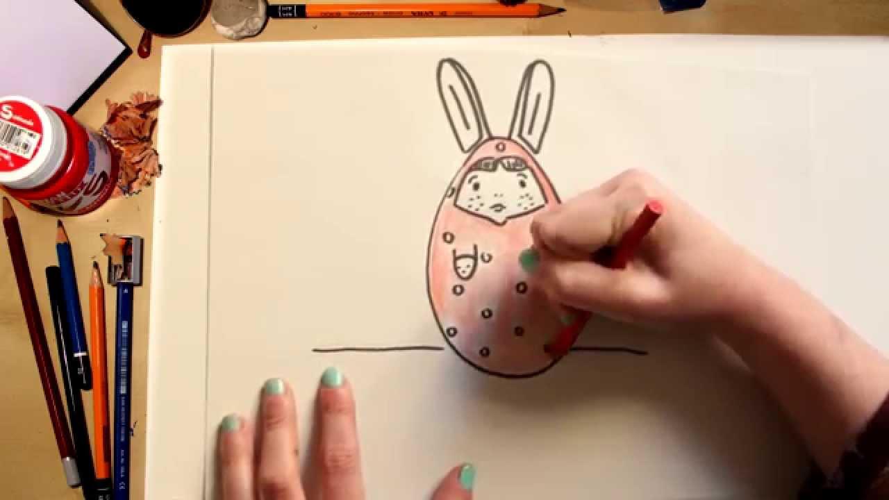 Como desenhar Coccinelle disfarçada para a Páscoa