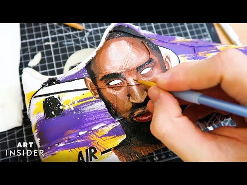 Customizing Sneakers with Celebrity Portraits