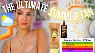 HOW TO GET the PERFECT SUMMER TAN FAST *my tanning routine* +tips and tricks
