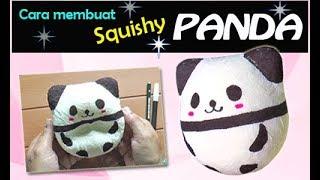 Cara Membuat Squishy Panda - How To Make Panda Squishy