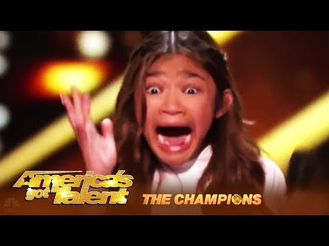 Angelica Hale: The Star Is Back to FIGHT! Agree w/Mel B or Howie? | America's Got Talent: Champions (видео)