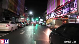 preview picture of video 'Night Hat Yai town by Scooter Taxi - Jan 2015'